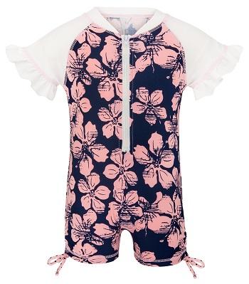 UV baby zwempak Snapper Rock Hibiscus Navy/Pink