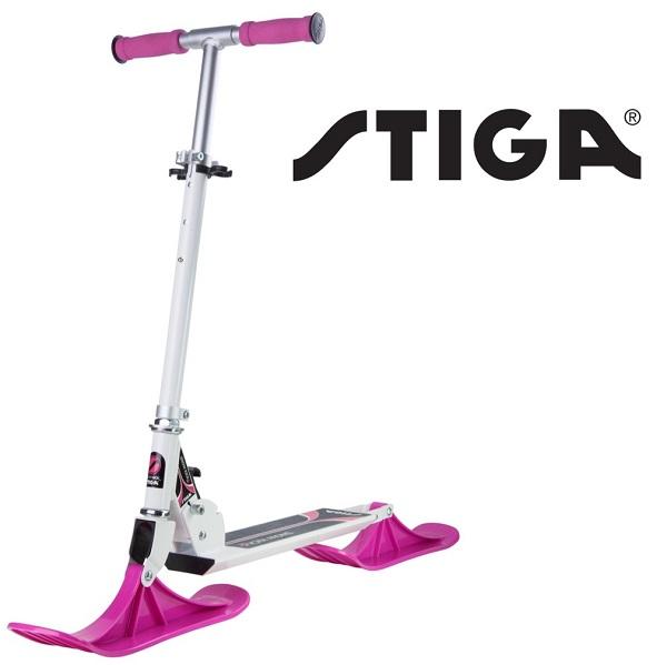 Sneeuwstep opvouwbaar Stiga Snow Kick roze