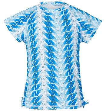 UV zwemshirt korte mouw Snapper Rock Blue Feathers