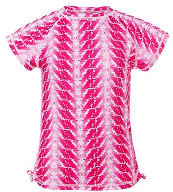 UV zwemshirt korte mouw Snapper Rock Fuchsia Feathers