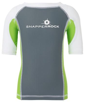 UV zwemshirt korte mouw Snapper Rock Graphite/Lime