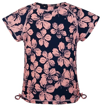 UV zwemshirt korte mouw Snapper Rock Hibiscus Navy/Pink