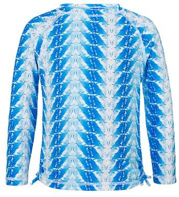 UV zwemshirt lange mouw Snapper Rock Blue Feathers