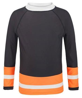 UV zwemshirt lange mouw Snapper Rock Slate/Neon Orange