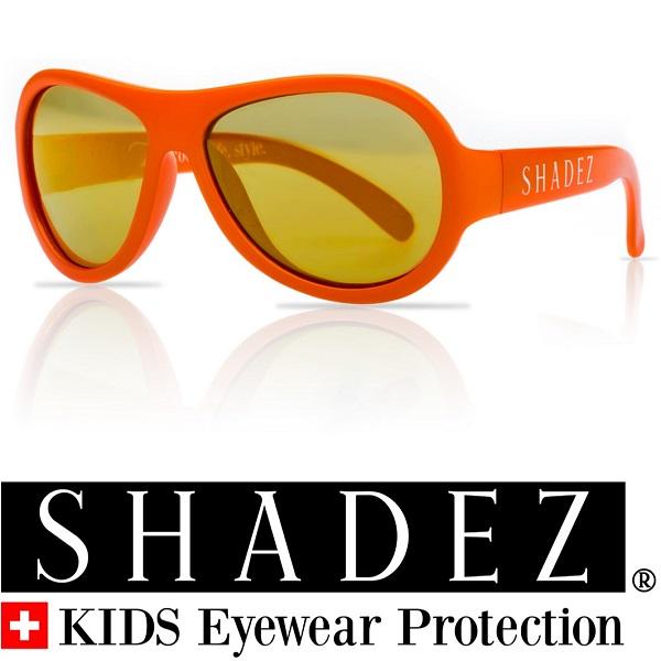 Shadez UV zonnebril Oranje met Gouden spiegelglazen