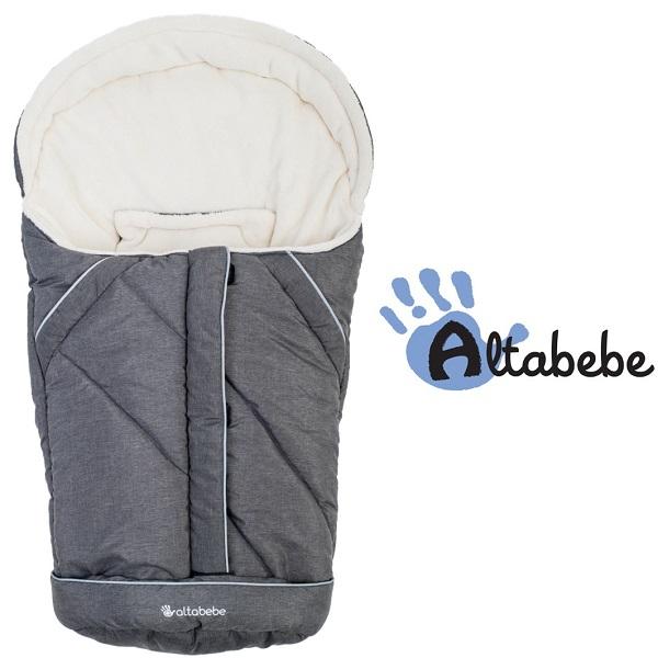 Voetenzak Maxi Cosi & Kinderwagen Altabebe Alpin grijs/wit 0-12 mnd