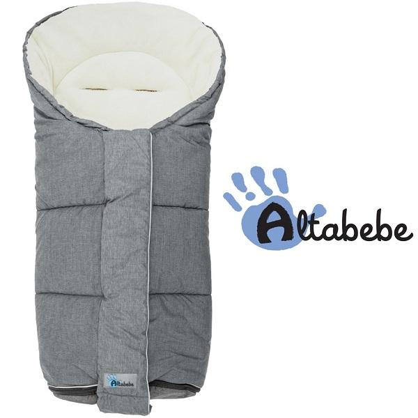 Voetenzak buggy universeel Altabebe Alpin grijs/wit 6-36 mnd