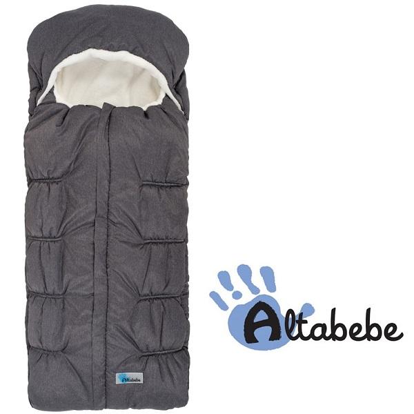 Voetenzak met capuchon Altabebe Polar XL grijs/wit 6-36 mnd