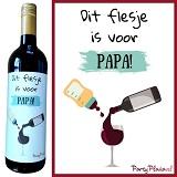 Wijnetiket - Dit flesje is voor Papa
