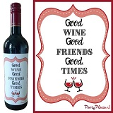 Wijnetiket - Good wines, Good Friends, Good Times