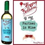 Wijnetiket - Happy Birthday to my Partner in Wine