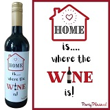 Wijnetiket - Home is where the wine is