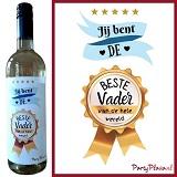 Wijnetiket - Jij bent de beste Vader van de hele wereld