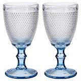 Wijnglazen Vintage 33 cl  Set van 2 wijnglazen Blauw