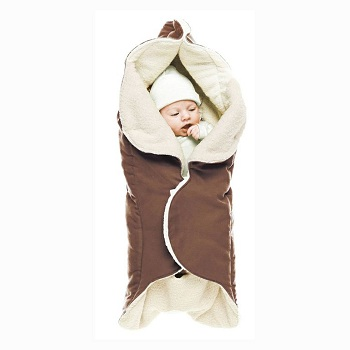 Baby wikkeldeken Wallaboo Wrapper Nore bruin