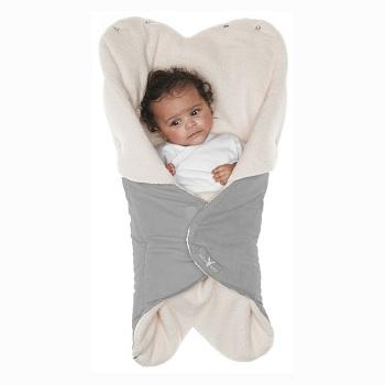 Baby wikkeldeken Wallaboo Wrapper Nore grijs