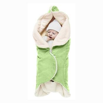 Baby wikkeldeken Wallaboo Wrapper Nore groen
