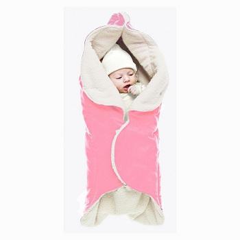 Baby wikkeldeken Wallaboo Wrapper Nore roze