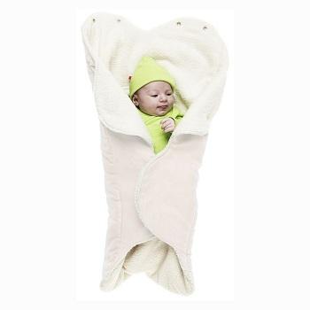 Baby wikkeldeken Wallaboo Wrapper Nore wit