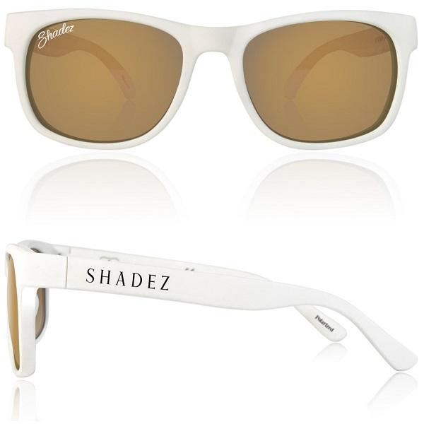 Polarized zonnebril 16+ jr Wit met Gouden spiegelglazen