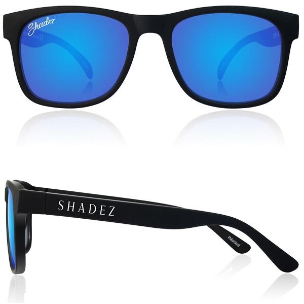 Polarized zonnebril 16+ jr Zwart met Blauwe spiegelglazen