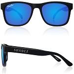 Shadez Polarized zonnebril 16+ jr Zwart met Blauwe spiegelglazen