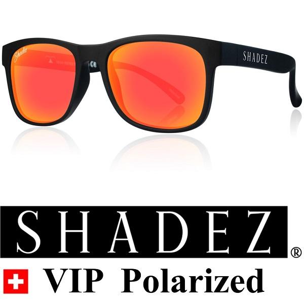 Shadez Polarized zonnebril 16+ jr Zwart met Rode spiegelglazen