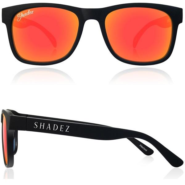 Polarized zonnebril 16+ jr Zwart met Rode spiegelglazen