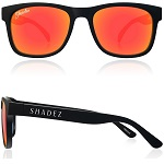 Zonnebril Polarized 16+ jr Zwart met Rode spiegelglazen