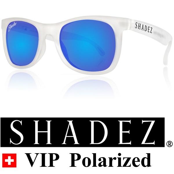 Polarized zonnebril kind - Shadez Transparant / Blauwe spiegelglazen