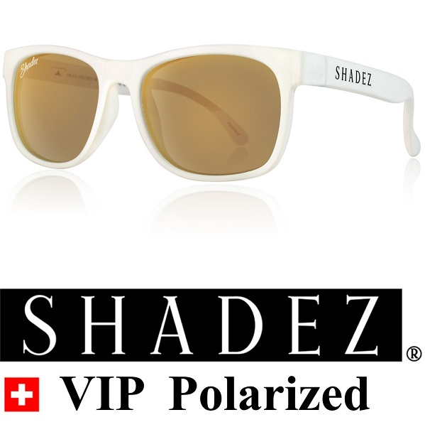 Polarized zonnebril kind - Shadez Wit met Gouden spiegelglazen