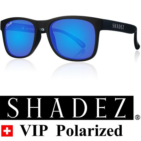 Polarized zonnebril kind - Shadez Zwart met Blauwe spiegelglazen