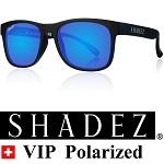 Shadez VIP Polarized zonnebril Zwart met Blauwe spiegelglazen