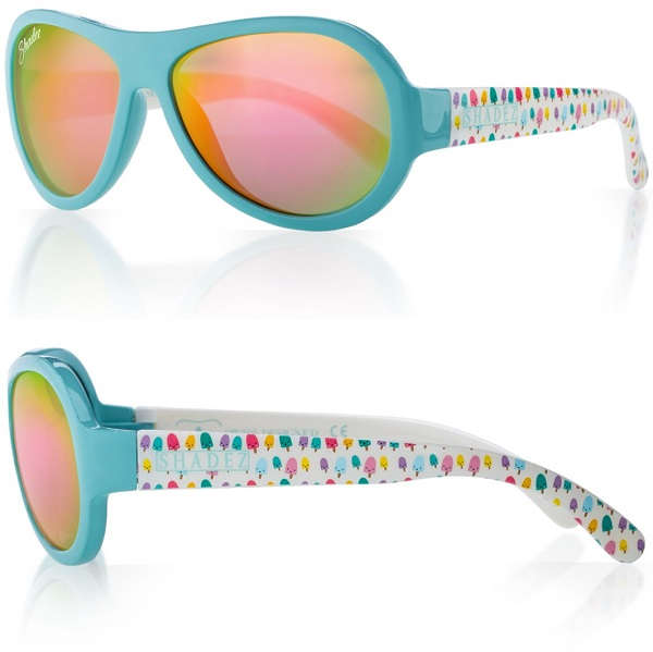 Shadez Designer UV zonnebril Ice Cream Blue - Maat 3-7 jr