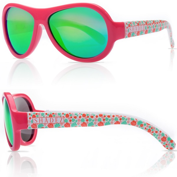 Zonnebril kind - Shadez Leaf Print Pink - Maat 3-7 jr