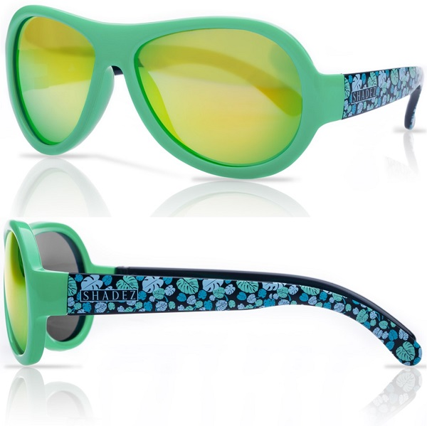 Shadez Designer UV zonnebril Leaf Print Green - Maat 7-15 jr
