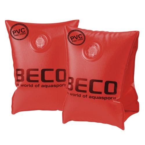 Zwembandjes opblaasbaar PVC-vrij Beco SOFT rood
