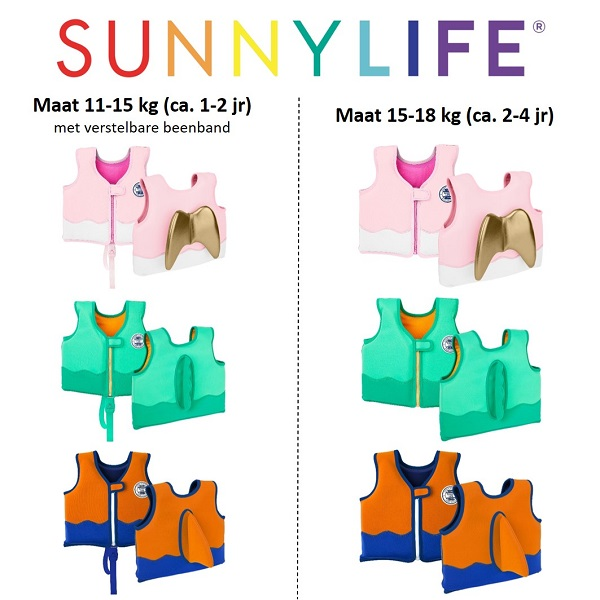 Zwemvest kind Sunnylife Pink Angel 15-18 kg / 2-4 jr