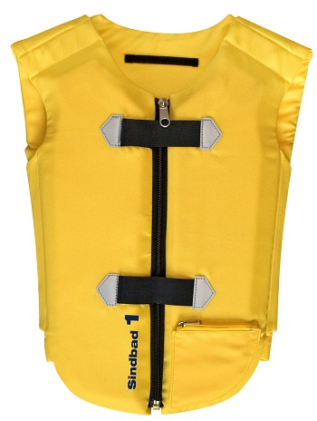 Meegroei zwemvest 6-12 jr Beco Sindbad geel