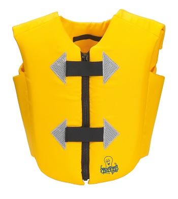 Meegroei zwemvest 2-6 jr Beco Sindbad geel