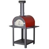 Pizzaoven met onderstel op wielen Pizza houtoven VITA