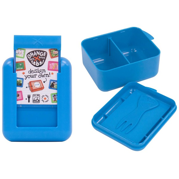 Snackbox kind / Fruitbakje Orange Rebel - Blauw