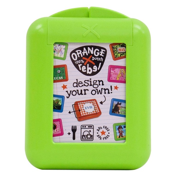 Snackbox voor kinderen Orange Rebel - Lime groen