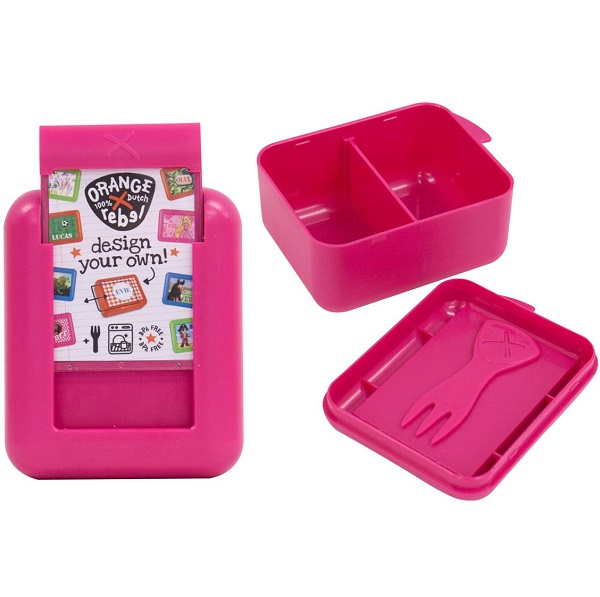 Snackbox kind / Fruitbakje Orange Rebel - Roze