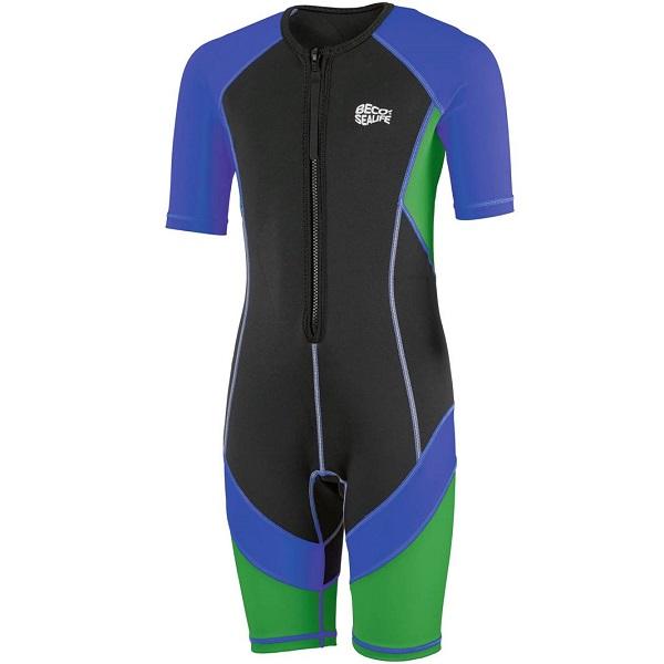 UV kinder wetsuit Beco Sealife zwart/blauw/groen
