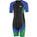 Wetsuit kind - Zwempak Beco Sealife zwart/blauw/groen