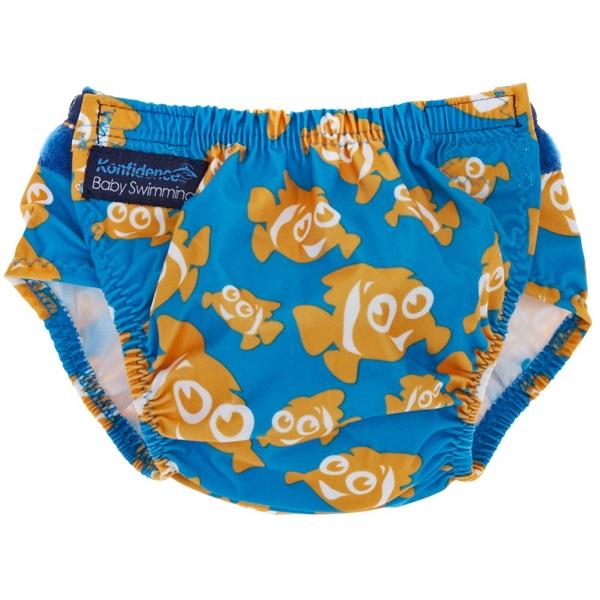 Wasbare zwemluier Konfidence Clownfish blauw