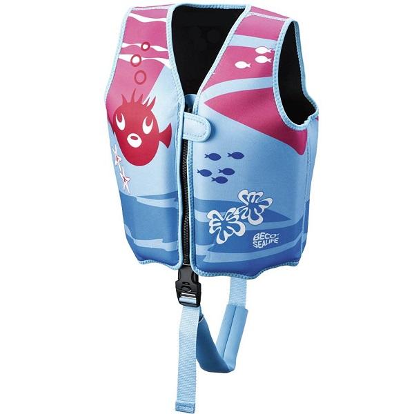 Zwemvest kind Beco Sealife blauw/roze