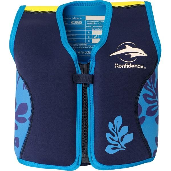 Zwemvest voor kinderen Konfidence Palm blauw