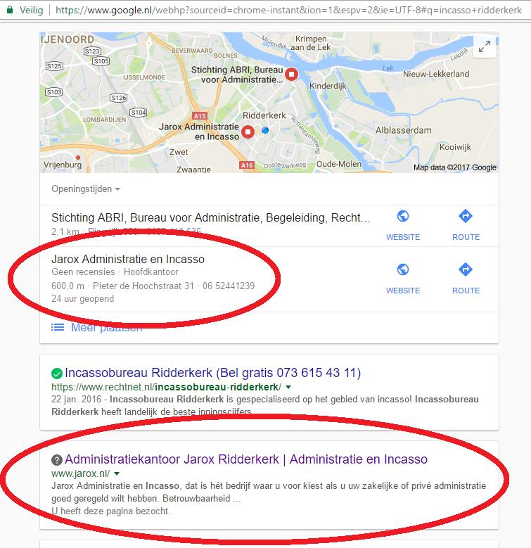 SEO-maps-resultaten-incasso-administratie